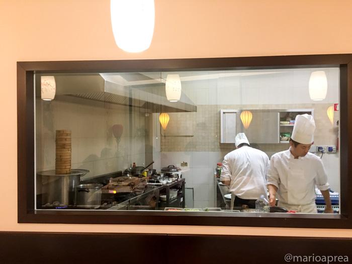cucina a vista del Padiglione delle Cicogne