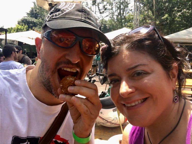 Io e Simona al barbecue festival